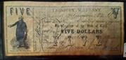 5 Dollars (Treasury Warrant) – avers