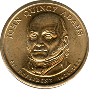 1 Dollar (John Quincy Adams) -  avers