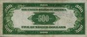 500 Dollars Gold Certificate – revers