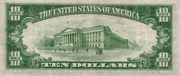 10 Dollars (Silver Certificate; Blue Seal and 5) -  revers