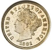 "1 cent ""Liberty Head One Cent"" (Essai) – avers"