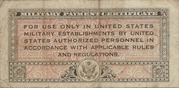 10 Cents Military Payment Certificate Series 461 – revers
