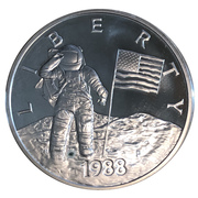 Medal - Young Astronauts (Moon Landing) -  avers
