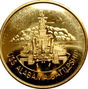 Battleship Memorial Park Mobile, Alabama - USS Alabama Battleship -  avers