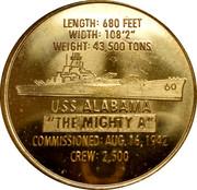 "Battleship Memorial Park Mobile, Alabama -""The Mighty A"" -  revers"