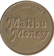 Token - Malibu Money (Malibu Grand Prix; Woodland Hills, California) – revers
