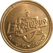 Excalibur arcade token – avers