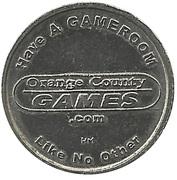 Jeton de jeu - Orange County Games (Anaheim, California) – avers