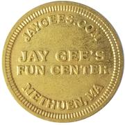 Jeton - Jay Gee's Fun Center (Methuen, Massachusetts) – avers