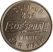 Jeton de lavage automobile - Sofspra (Myrtle Creek, Oregon) – avers