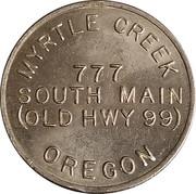 Jeton de lavage automobile - Sofspra (Myrtle Creek, Oregon) – revers