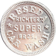 25 cents - Reseda Car Wash – avers