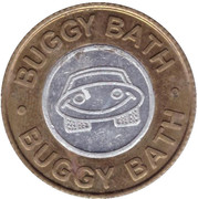 1 Dollar Carwash Token - Buggy Bath (Mesa, Arizona) – avers