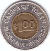 1 Dollar Car Wash Token - Oasis (Littleton, Colorado) – revers