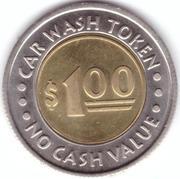 1 Dollar Car Wash Token - Oasis Palms – revers