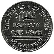 1 Dollar Carwash Token - Rainbow Car Wash – revers