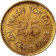 25 Cents Wash Token (Wizard) – revers