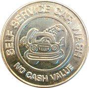 Jeton de lavage automobile 25 cents - Self Service Car Wash – avers