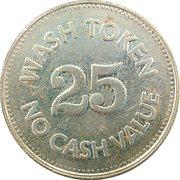 Jeton de lavage automobile 25 cents - Self Service Car Wash – revers
