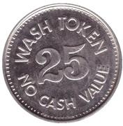 25 Cents Wash Token - Oak Street Carwash (Scottsdale) – revers
