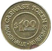1 Dollar Carwash Token - Flollow Charlie (Alameda, California) – revers