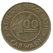 1 Dollar Car Wash Token - Ashland Buggy Bath (Ashland, Oregon) – avers
