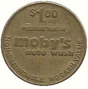 1 Dollar - Moby's Auto Wash (Bakersfield, California) – revers