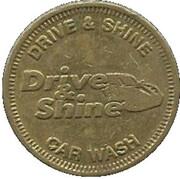 1 Dollar Car Wash Token - Drive & Shine (Elkhart, Indiana) – avers