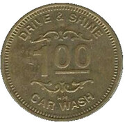 1 Dollar Car Wash Token - Drive & Shine (Elkhart, Indiana) – revers