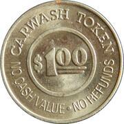 1 Dollar Carwash Token - Gold Coin Car Wash (Oakland, California) – revers