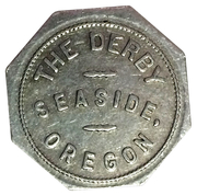 Seaside, Oregon - The Derby - 50 cents in Trade -  avers