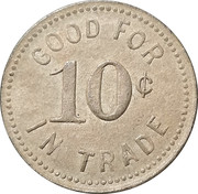 10 Cent - Sportsman Billiard Parlor (Bonesteel, South Dakota) -  avers