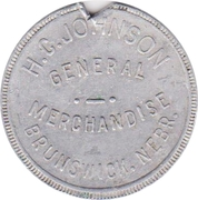 1 Dollar - H.C. Johnson General Merchandise (Brunswick, Nebraska) -  avers