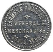 25 Cents - Farmers Produce Co. (Genoa, Nebraska) -  avers