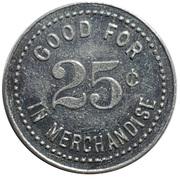 25 Cents - Farmers Produce Co. (Genoa, Nebraska) -  revers