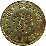 5 cents - Post Exchange (Fort Russell, Wyoming) -  avers