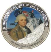 Token - John Adams (2nd President) -  avers