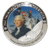 Token - Thomas Jefferson (3rd President) -  avers