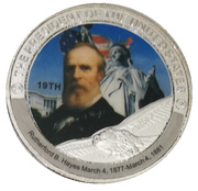 Token - Rutherford B. Hayes (19th President) -  avers