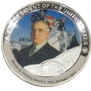 Token - Warren G. Harding (29th President) -  avers