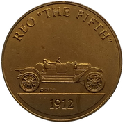 """Jeton - Antique Car Coin Collection (Reo """"The Fifth"""") -  avers"""
