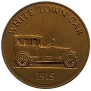 Jeton - Antique Car Coin Collection (White Town Car) -  avers