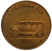 Jeton - Antique Car Coin Collection (Chrysler Six) -  avers