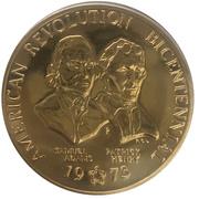 Medal - American Revolution Bicentennial (1973 - Samuel Adams Patrick Henry) -  avers