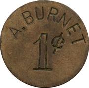 1 Cent - A. Burnet – avers