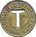 Louisville Transit Co. token -  avers