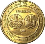 Bridge Token - Delaware River Joint Toll Bridge Commission -  avers