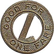 1 Fare - Louisville Railway Co. (Louisville, Kentucky) -  avers