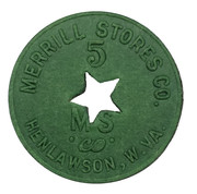 5 Cents - Merrill Stores Co. (Henlawson, West Virginia) -  avers
