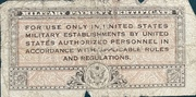 5 Cents Military Payment Certificate Series 461 (1946-1947) – revers
